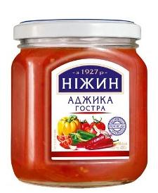 "Ajika ""Hot"" with a spicy flavor of garlic, pepper and spices Nezhin 450 gr"